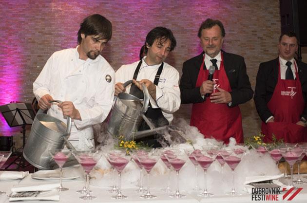FestiWine Gala gourmet spektakl u režiji Tomaža Kavčića, Petra Obada, Siniše Lasana i Rene Bakalovića
